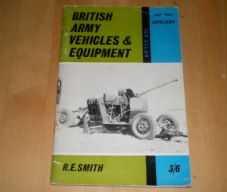 British Army vehicles and Equipment. Artillery.